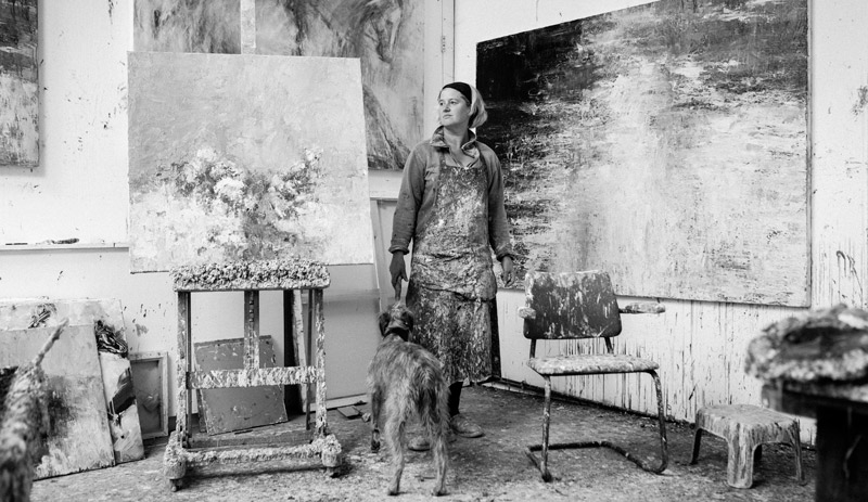 Judy Buxton in her studio