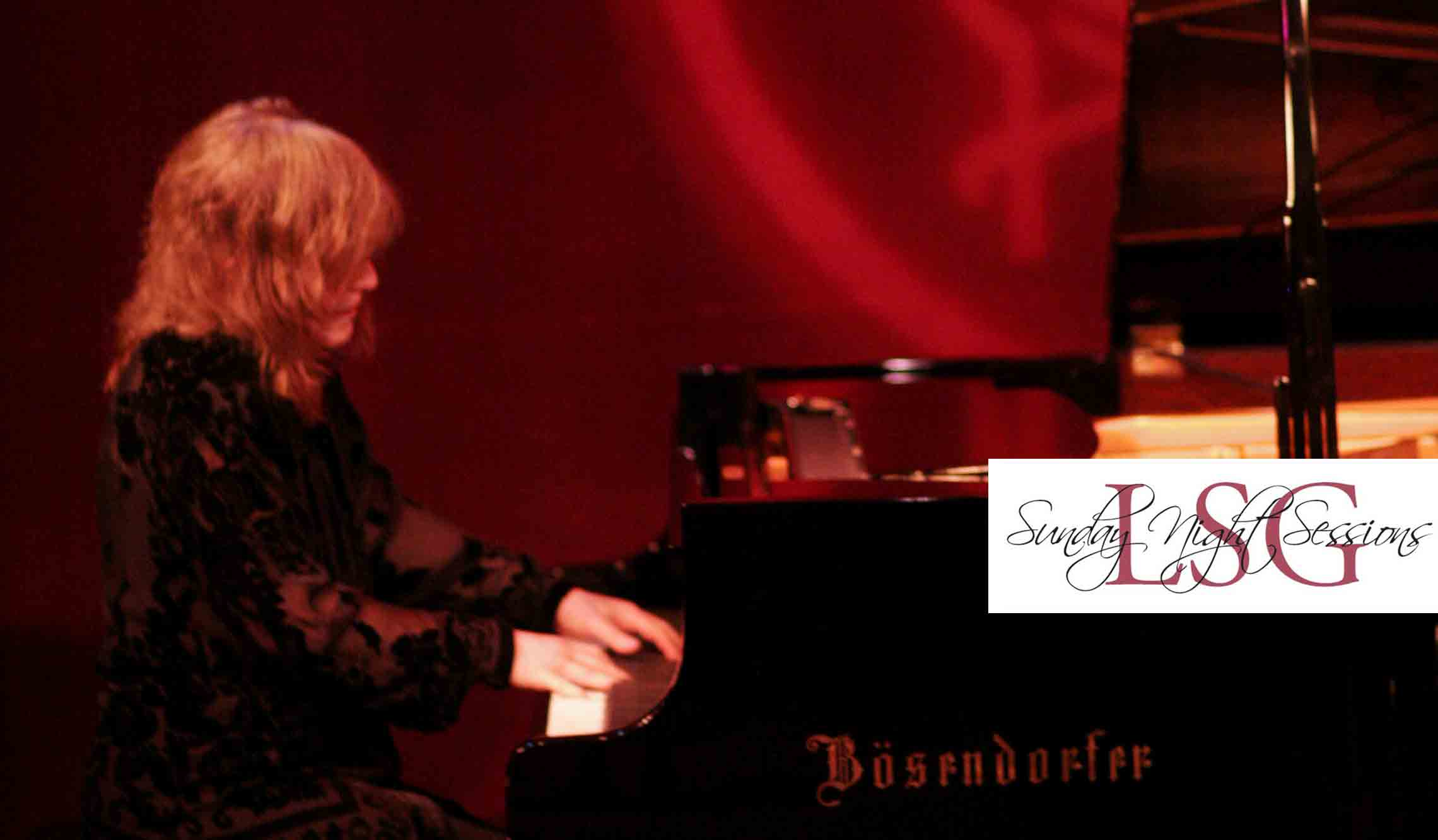 Marilyn Crispell playing piano