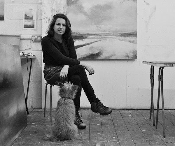 Amelia Humber in her studio