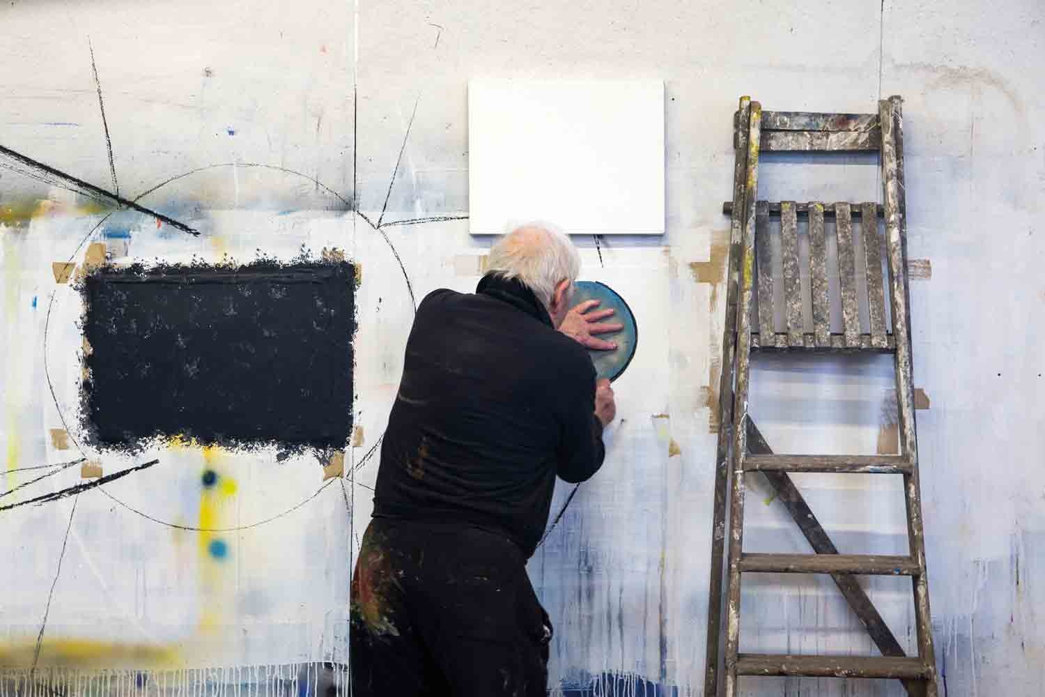 Barrie Cook in his art studio