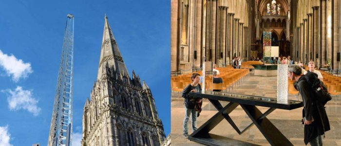 Art exhibition at Salisbury Cathedral