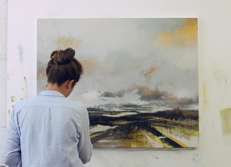 Amelia Humber painting